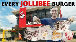 Kumander Daot – I TRIED EVERY JOLLIBEE BURGER – Foreigner Foodtrip in Davao Philippines