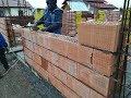 Zidarie Porotherm - Cemacon - cum se zideste corect. - constructie casa la rosu Mosnita Veche Timis