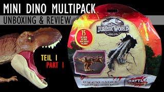 Mattel ® Jurassic World ™ Mini Dino Multipack - Teil 1 - Unboxing & Review