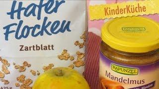 Kochen mit MutterLandrand - Hafer-Porridge mit Äpfeln und Mandelmus