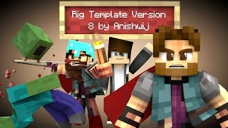 Cinema 4D - Minecraft Rig Template Version 8 (OLD) (Presentation)