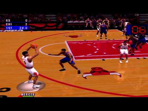 NBA Live 2001 Gameplay Chicago Bulls vs Golden State Warriors