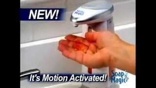 Сенсорный дозатор для жидкого мыла Soap Magic от компании PolyMarket - видео