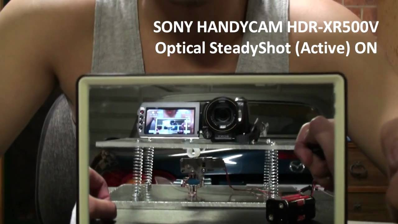 Guy Tests Out Sony's New Optical SteadyShot Active Feature On Homemade Wobble Board