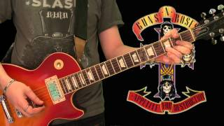 Slash Lesson - Welcome To The Jungle (full slow lesson)