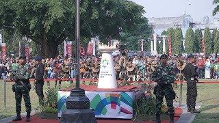 Proses Kirab Api Obor Asian Games 2018 saat Tiba di Kota Solo