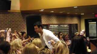 """Jordan Knight Dances """"GIve It To You"""" Indy AP August 2013"""