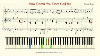 Alicia Keys How Come You Don't Call Me