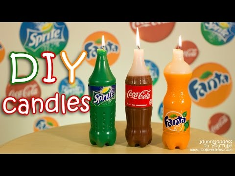 Softdrink-Kerzen DIY - Kerzen im Cola-Style