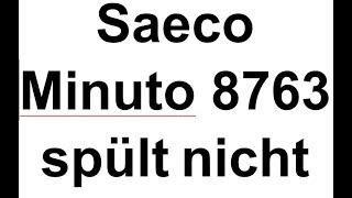 Saeco Minuto HD8763 spült nicht Kaffee tropft lange nach