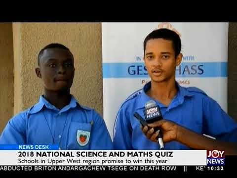 National Science and Maths Quiz - News Desk on Joy News (30-5-18)