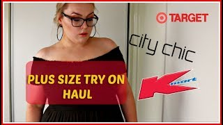 PLUZ SIZE TRY ON HAUL - KMART TARGET CITY CHIC CLAUDIA SCHMIDT