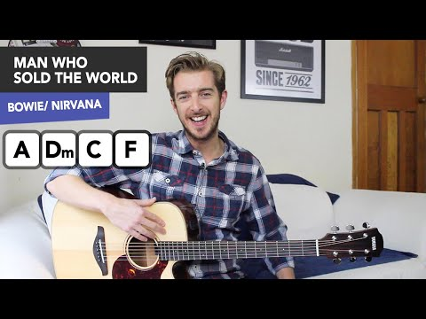 """""""Man Who Sold The World"""" Guitar Lesson (Bowie/ Nirvana) Acoustic"""