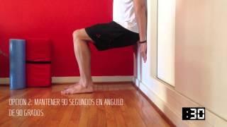 Ejercicios para tendinitis rotuliana (Opción 2) - Sentadillas en la pared | RunFitners.com