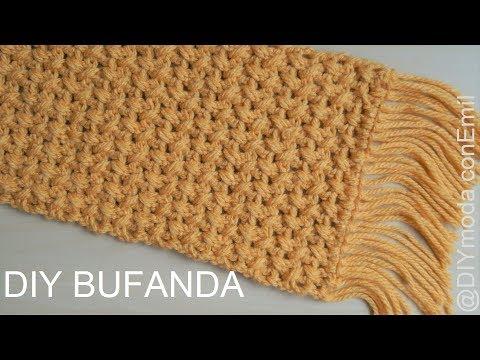 Bufanda de lana a crochet fácil y rápido paso a paso