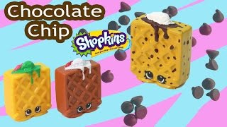 Custom Shopkins Season 2 CHOCOLATE Chip Waffle Sue DIY Painted Craft Toy Video Cookieswirlc