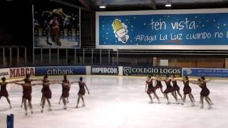 preview picture of video 'Team Fusión en el último partido de liga hockey hielo SAD Majadahonda'