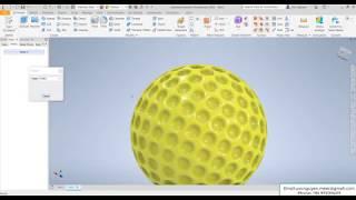 Inventor 2020 Tutorial Golf Ball & iLogic
