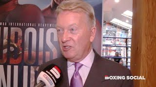"""EVERYBODY WANTS TO SEE WHYTE-DUBOIS!"" FRANK WARREN ON HEARN MEETING, DUBOIS-SNIJDERS/HRGOVIC, YARDE"