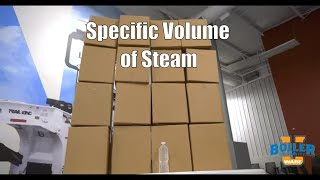 Specific Volume of Steam in a Pipe