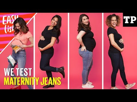 Best maternity jeans haul (we test Gap, H&M, Old Navy + more!) | Easy(ish)