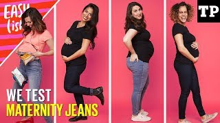Best maternity jeans haul (we test Gap, H&M, Old Navy + more!) | Easy(ish) S01E10