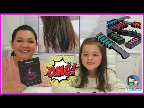 Haarkreide Kämme | Bunte Haare für Ava 💕 Geschichten und Spielzeug Familienkanal