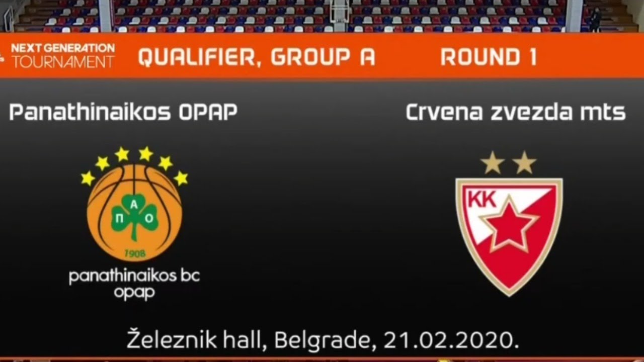 U18 - PANATHINAIKOS vs CRVENA ZVEZDA.- Euroleague. Adidas Next Generation Tournament (Belgrado 2020)