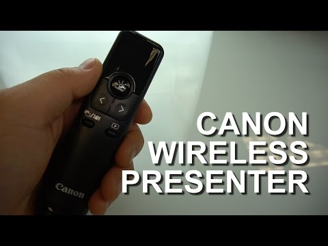 Canon PR100-R unboxing - red laser wireless presenter