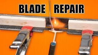 Bandsaw Blade Repair - How to Solder Bandsaw Blades