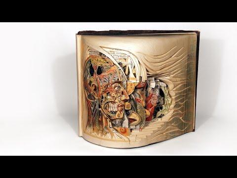 Bekijk details van Brian Dettmer beeldhoudt met boeken