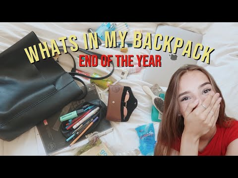 What's in my backpack (end of year) // Hannah