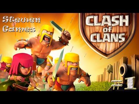 Прохождение игры Clash of Clans (Android) #1 Провинция!!!