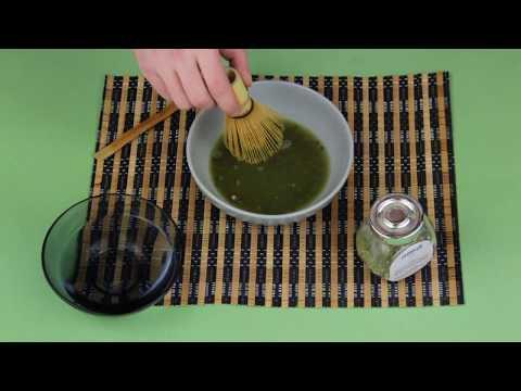 Приготовление японского чая матча (маття)