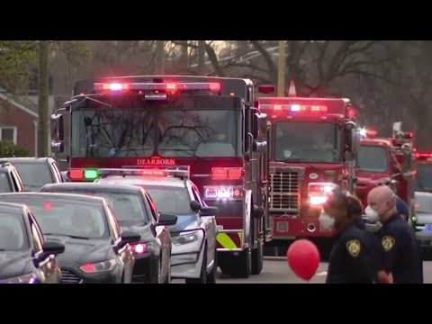 Detroit first responders honor 5-year-old girl lost to coronavirus