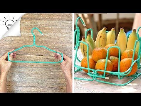 4 Formas inteligentes e úteis de reutilizar cabides de arame