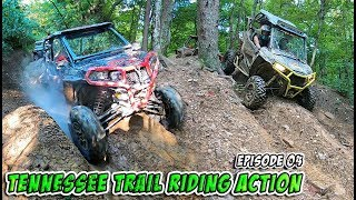 Tennessee Trail Riding Action - Crazy Climbs, Daring Descents & Wild Weather - Episode 04 - SXS/UTV