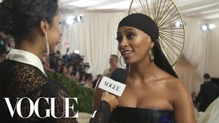 Solange on Her Braided Halo & Performing With Beyoncé at Coachella | Met Gala 2018 With Liza Koshy - Video Youtube