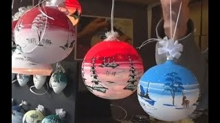 Германия: Рождественский рынок - елочные игрушки ручной работы