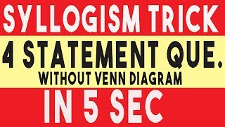 Syllogism advanced tricks for bank po in hindi introduction syllogism tricks without venn diagram in hindi syllogism tricks using formula 100 accuracy ccuart Image collections