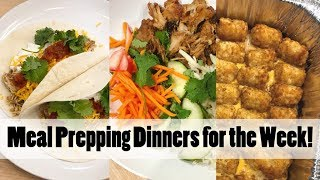 Meal Prep Dinner with Me! Tater Tot Casserole & Banh Mi Bowls // Freezer Meals