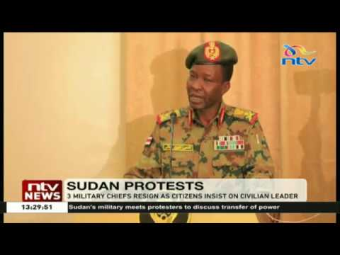 Three Sudan military chiefs resign as citizens insist on a civilian leader
