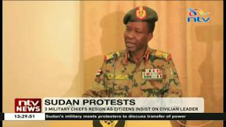 Three Sudan Military Chiefs Resign As Citizens Insist On Civilian Leader
