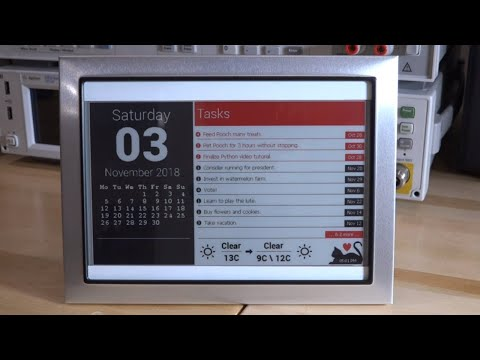 TSP #136 - Tutorial on Programming a Waveshare 7.5-Inch Multi-Color e-Paper Display & Info-Frame