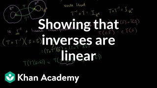 Linear Algebra: Showing that Inverses are Linear