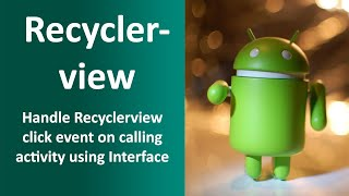 fragment with recyclerview - मुफ्त ऑनलाइन