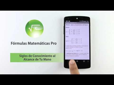 Video of Fórmulas Matemáticas Pro
