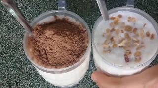 Cách làm sinh tố dừa và ca cao sữa dừa!
