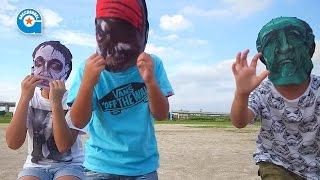 セリアのマスクで遊びました【がっちゃん】ハロウィン