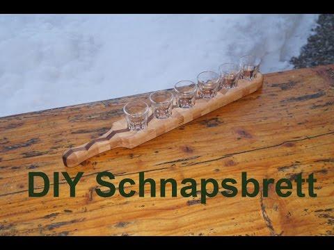 DIY Schnapsbrett für 6 Schnapsgläser